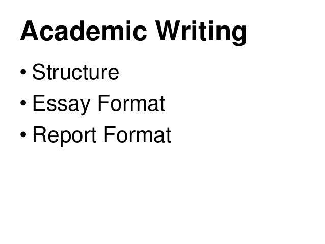 Structuring Academic Essays