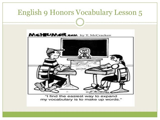 English 9 Honors Vocabulary Lesson 5