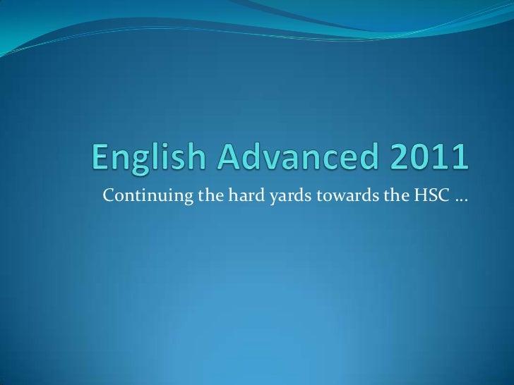 English advanced 2011 trial prep