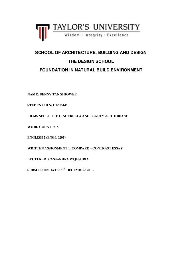 SCHOOL OF ARCHITECTURE, BUILDING AND DESIGN THE DESIGN SCHOOL FOUNDATION IN NATURAL BUILD ENVIRONMENT  NAME: BENNY TAN SHI...