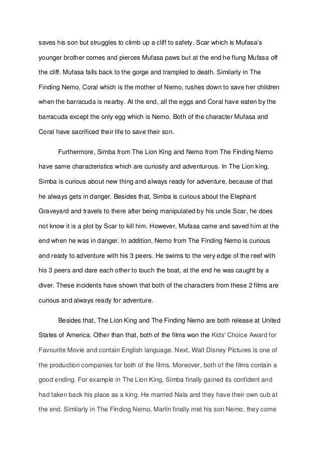 What are some good endings to my paragraphs in my compare and contrast essay?