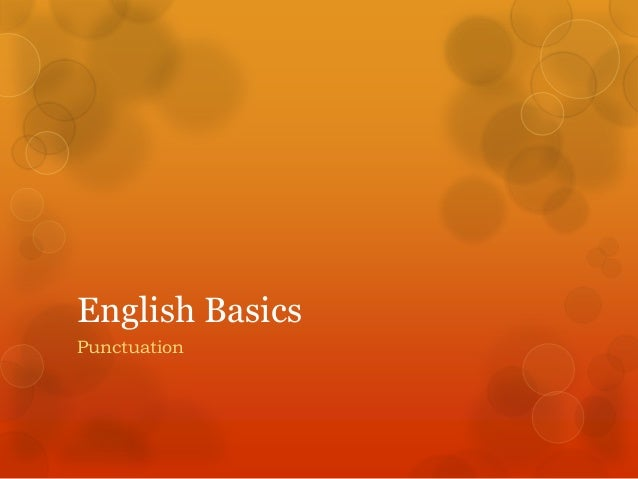 English Basics Punctuation