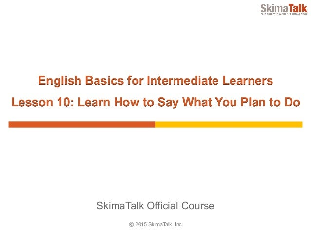 english basics for intermediate learners