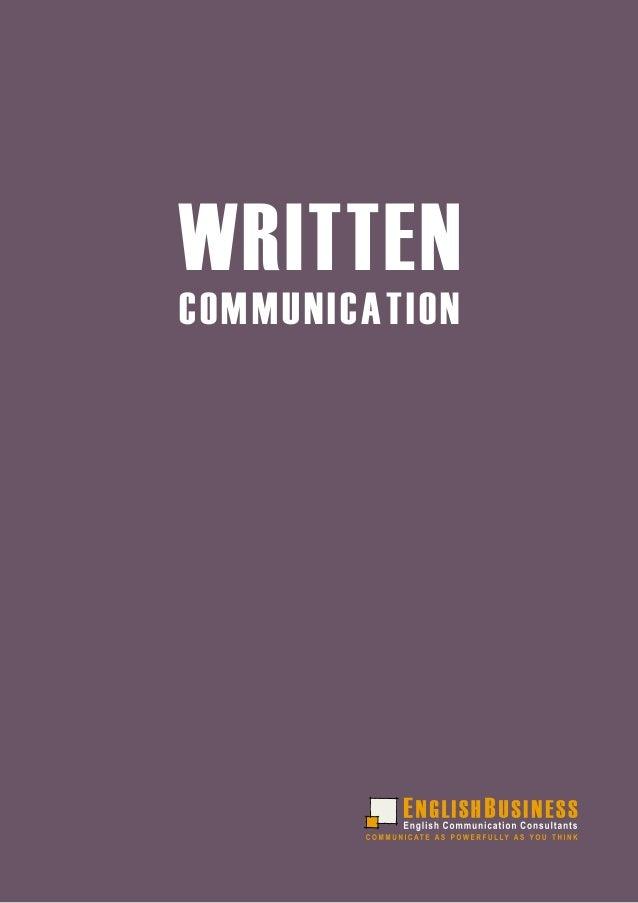WRITTENCOMMUNICATION