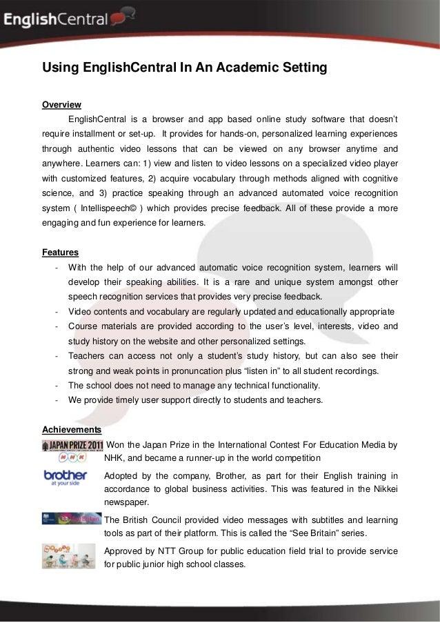 EnglishCentral Japan Testimonials