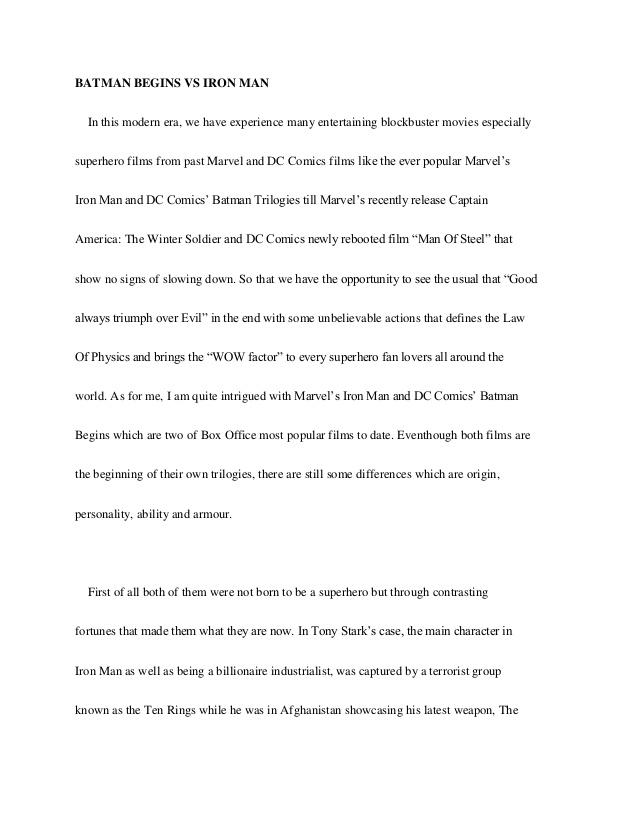 english contrast essay