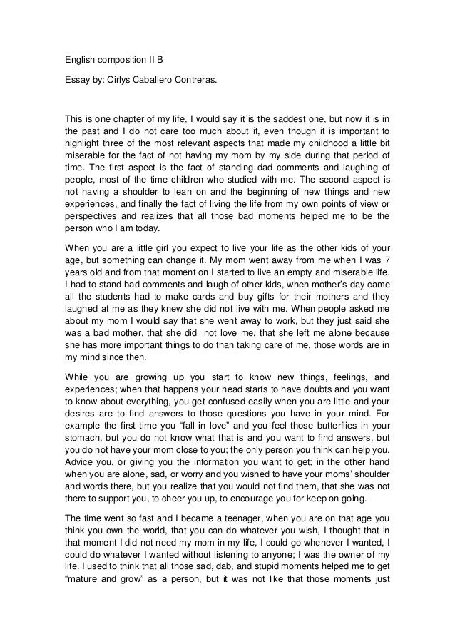 Part 1 english essay