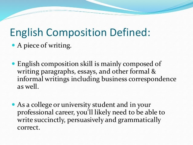 English Composition I and II
