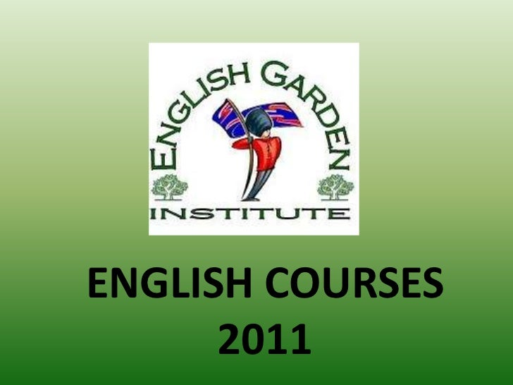 ENGLISH COURSES 2011<br />