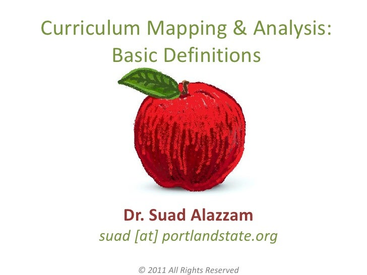 Curriculum Mapping & Analysis:        Basic Definitions         Dr. Suad Alazzam      suad [at] portlandstate.org         ...