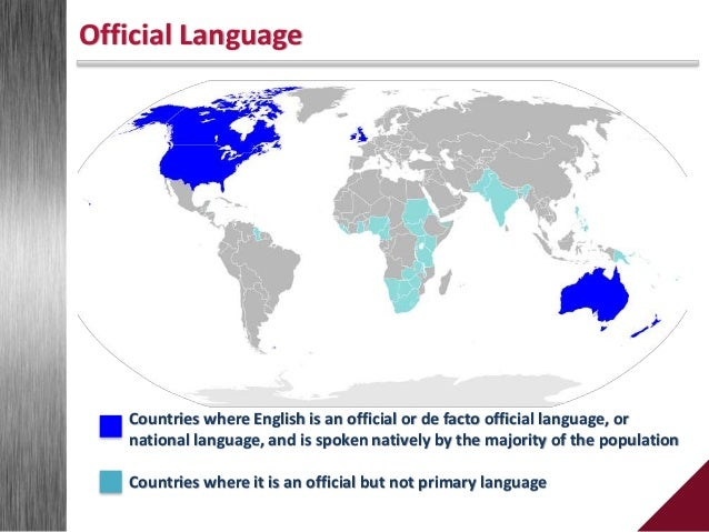 English As The Official Language: necessity or formality?