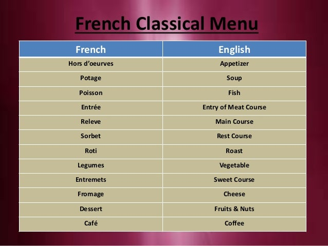 English enhancer ppt frankfinn for French canape menu