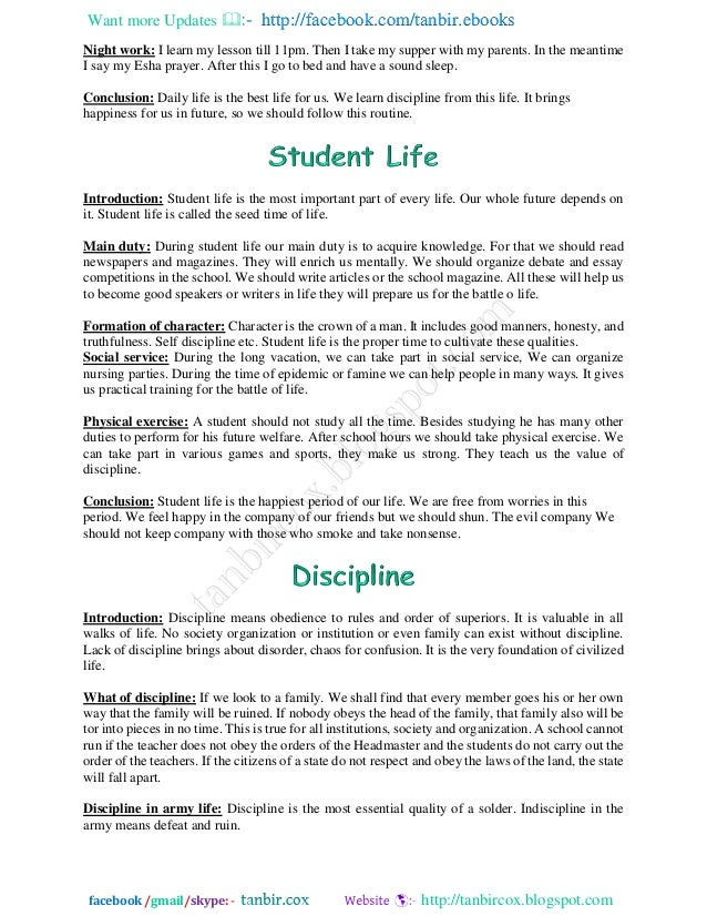 Thesis Statement For Process Essay Essays On Student Life Sample English Essays also Essay On Health Care Reform Essays On Student Life  Exolgbabogadosco Example Of An Essay Paper