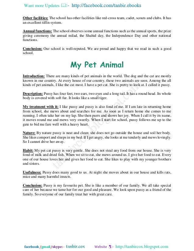 My pets essay