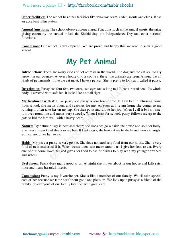 english essay pets What are the advantages and disadvantages of having a pet  pets have become a common sight in many households in fact, one would be hard pressed to find a household without pets such as fish, dogs, cats, rabbits, hamsters and even turtles.