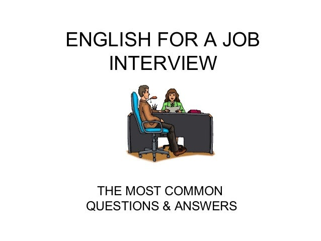 English for a job interview