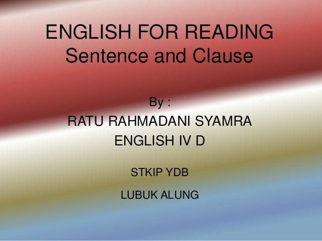 English for reading