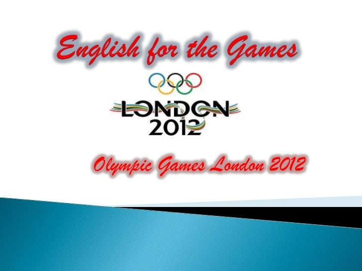 English for the games
