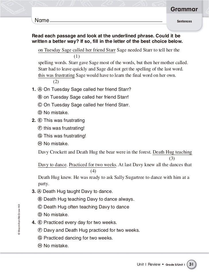 5th class english grammar book pdf