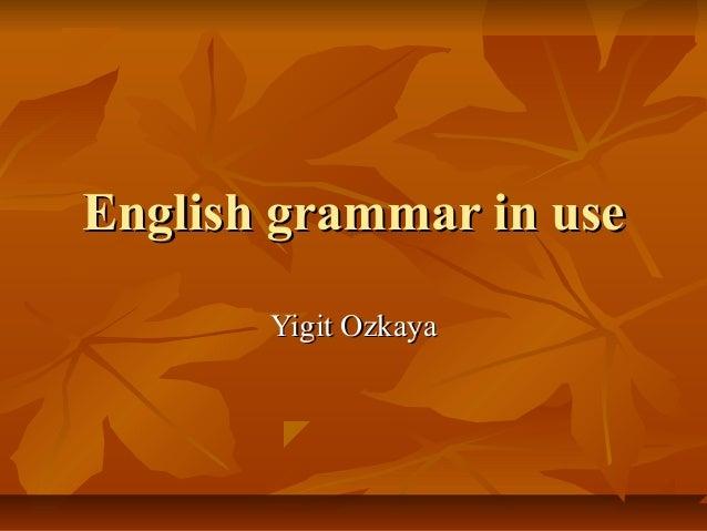 English grammar in use       Yigit Ozkaya