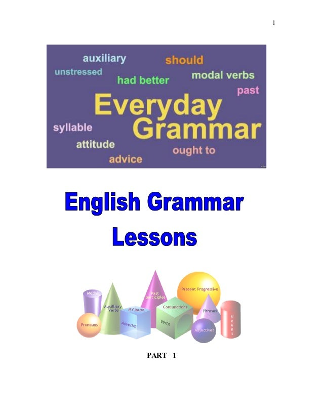 English Grammar Lessons (Part 1)