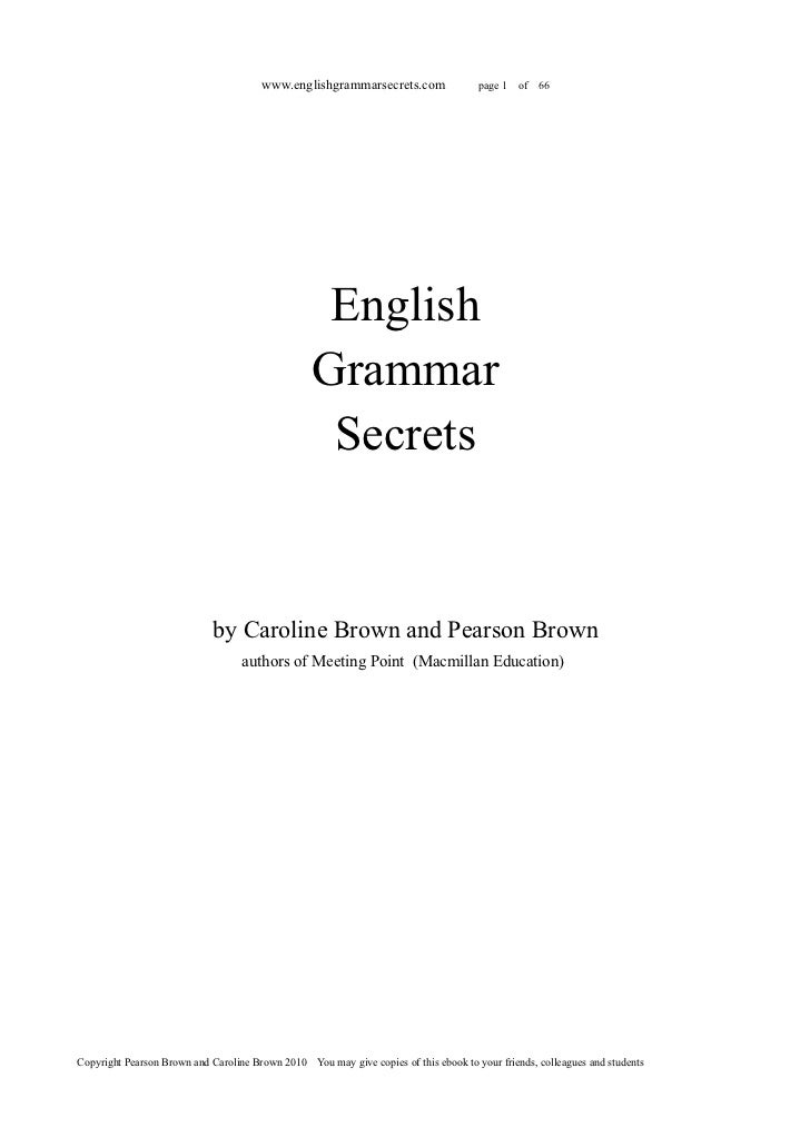 www.englishgrammarsecrets.com                  page 1   of   66                                                   English ...