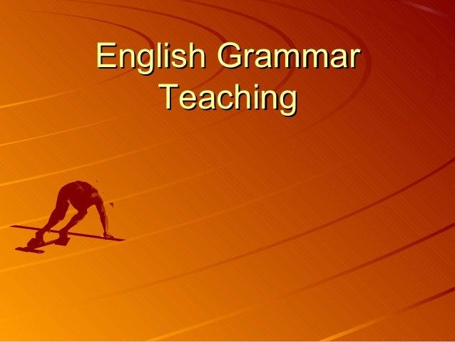 English grammar teaching