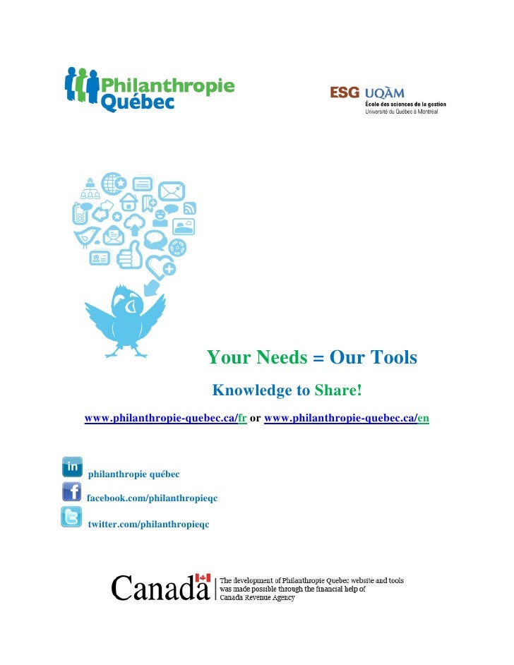 Philanthropie Québec : English Presentation Guide