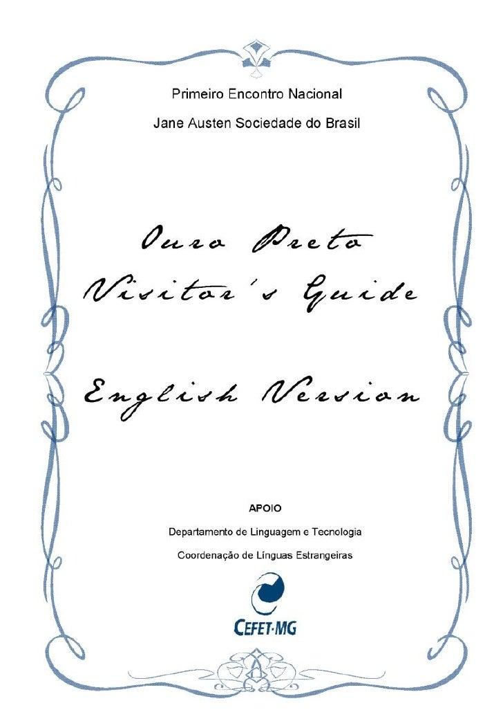 English Guide   Ouro Preto