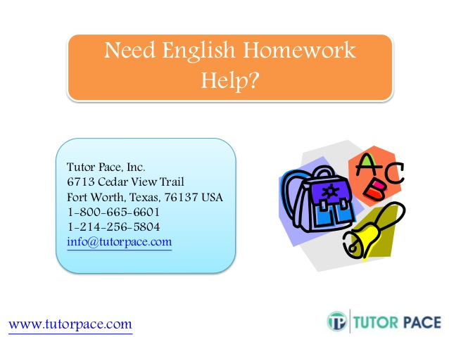 Online English Homework Help