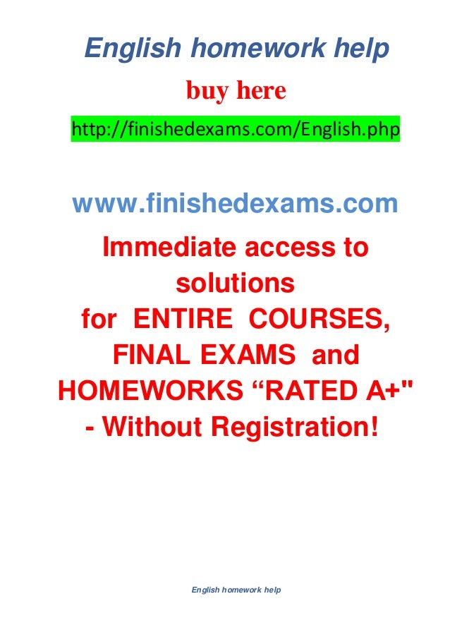 Homework help in english