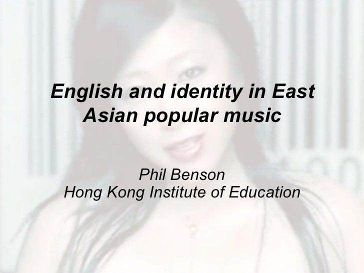 English identity east asian pop
