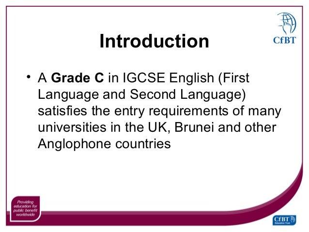 IGCSE english first language vs english second language?
