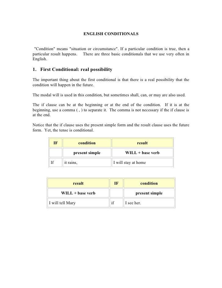 English iii, conditionals 1