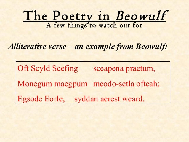 Examples Of Alliteration In Beowulf Essay Writing Service