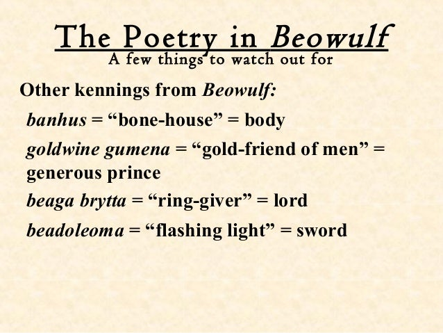 English Intro To Beowulf
