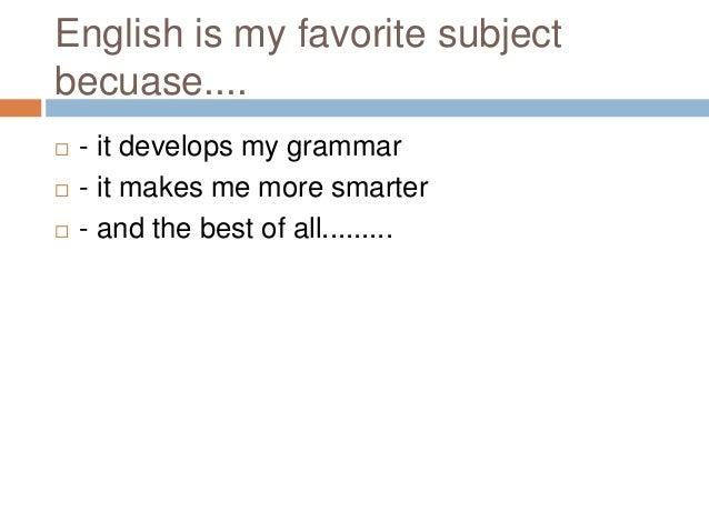 My favorite subject essay