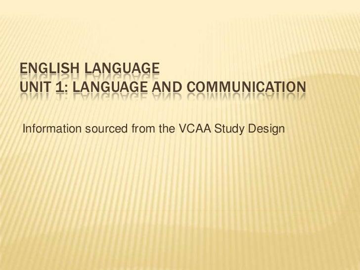 English language unit 1