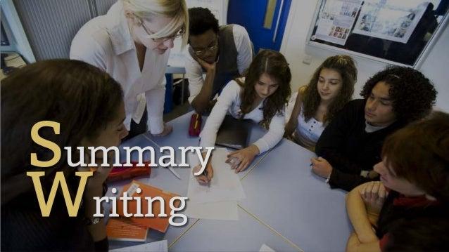 English Language - Summary Writing