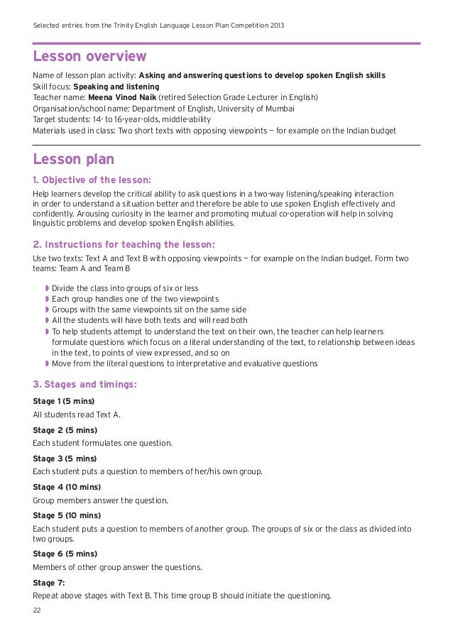 spoken lang lesson plan A to z teacher stuff ~ teacher resources, lesson plans, themes, tips, printables, and more.