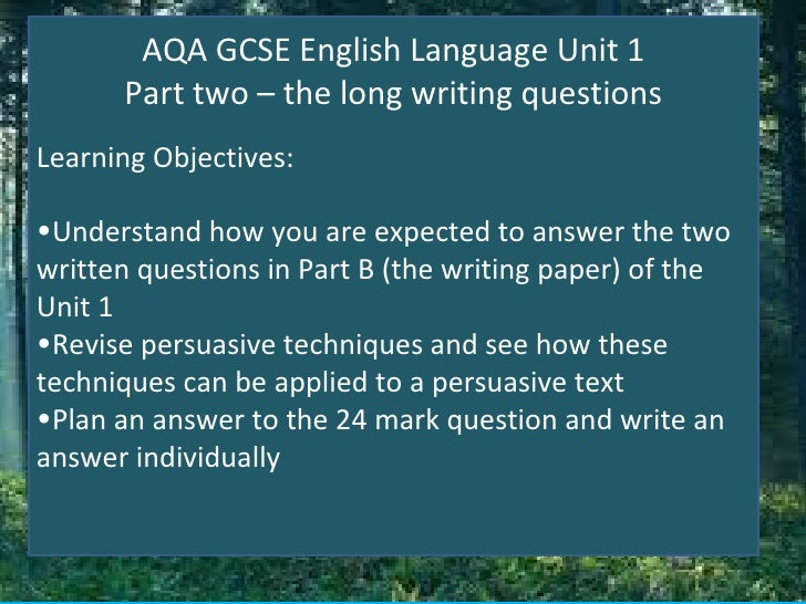 gcse english creative writing questions