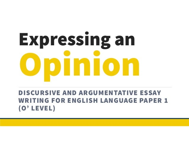 Levels English Language Language Paper 1(o' Level