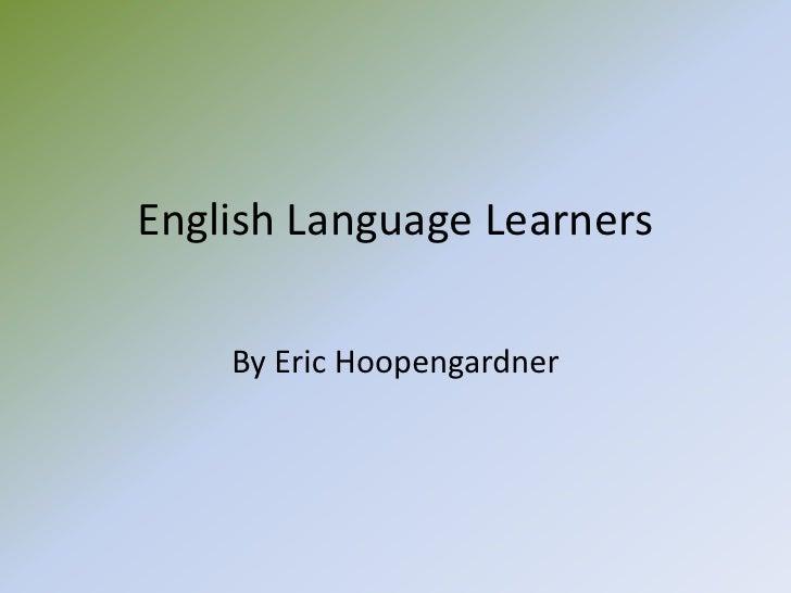 English language learners (2)