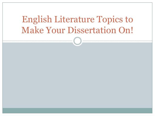 American literature thesis topics