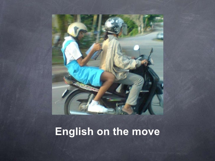 English on the move