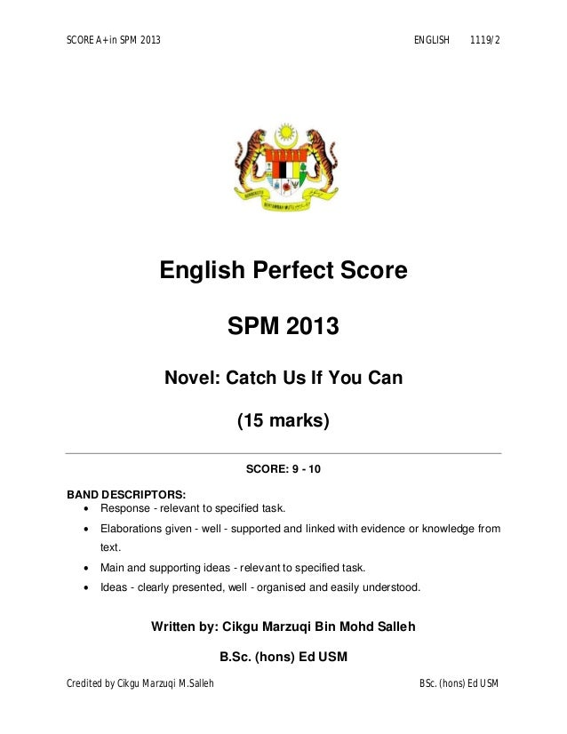 Spm level english essay
