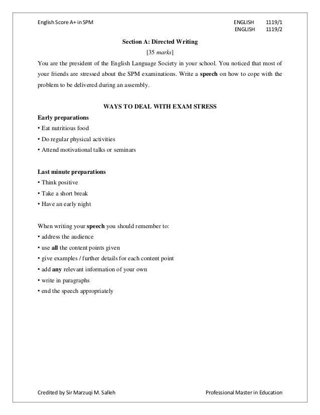 Spm Essay Module - Homework Help
