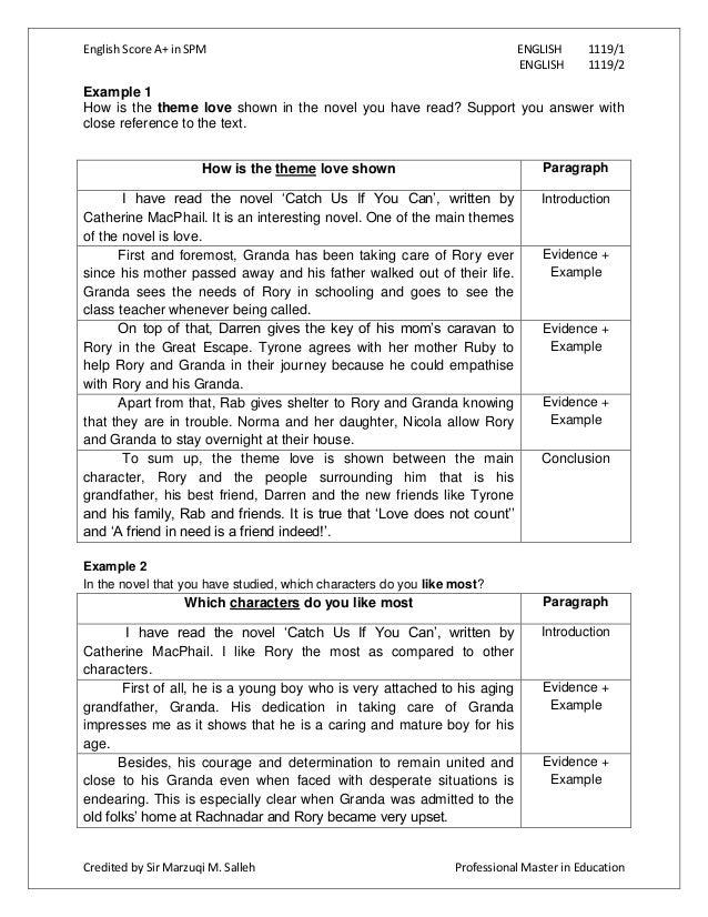 English Example Essay