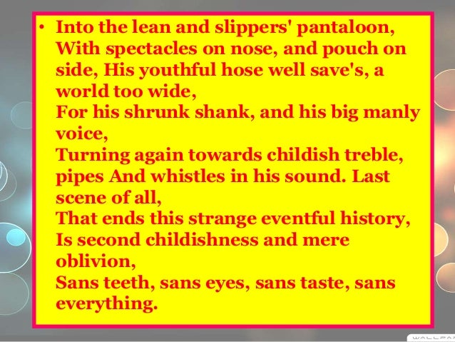 Seven Ages of Man Ppt The Seven Ages of Man' is
