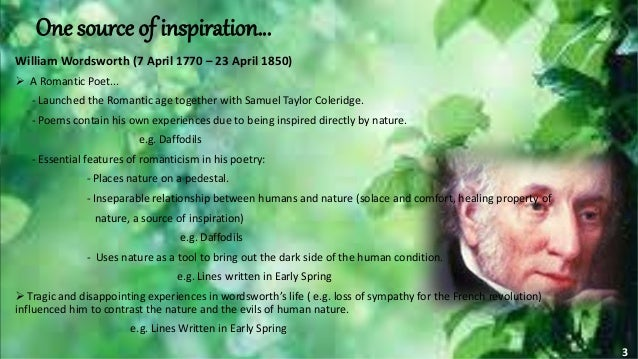 an analysis of the poem lines written in early spring by william wordsworth Lines written in early spring william wordsworth (1798) i heard a thousand blended notes, while in a grove i sate reclined, in that sweet mood when pleasant thoughts.